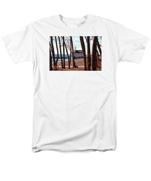Men's T-Shirt  (Regular Fit) featuring the photograph By The Lake by Valentino Visentini