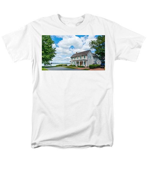 By The Water In Oxford Md Men's T-Shirt  (Regular Fit) by Charles Kraus