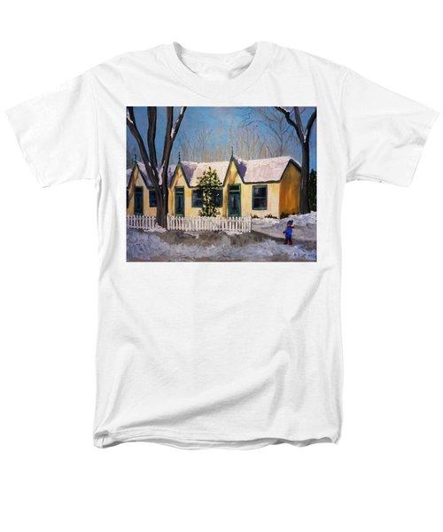 Cabbagetown Christmas Men's T-Shirt  (Regular Fit) by Diane Arlitt