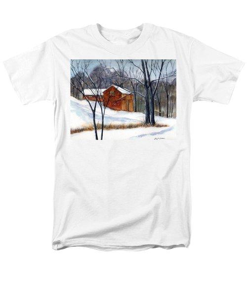 Cabin In The Woods Men's T-Shirt  (Regular Fit) by Debbie Lewis