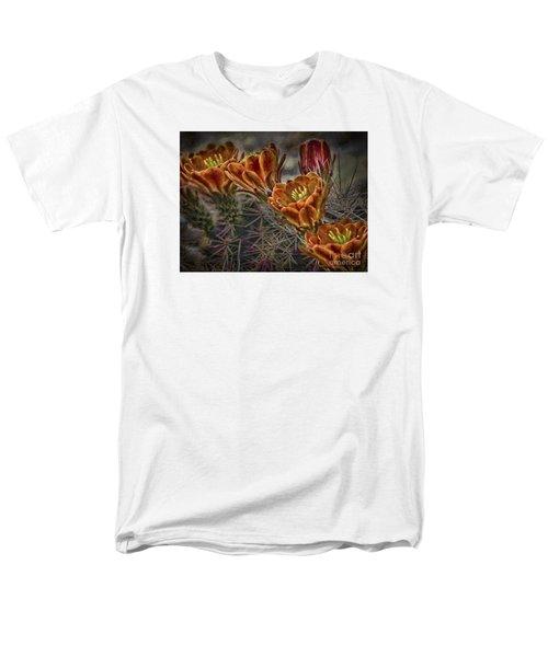 Men's T-Shirt  (Regular Fit) featuring the photograph Cactus Flowers  ... by Chuck Caramella