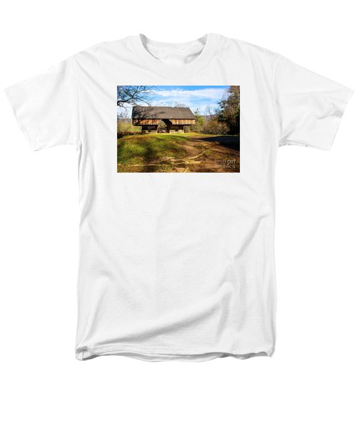 Cades Cover Cantilevered Barn Men's T-Shirt  (Regular Fit) by Marilyn Carlyle Greiner