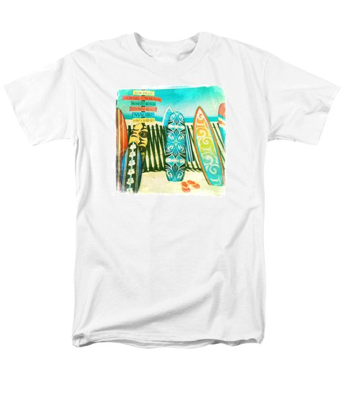 California Surfboards Men's T-Shirt  (Regular Fit) by Nina Prommer