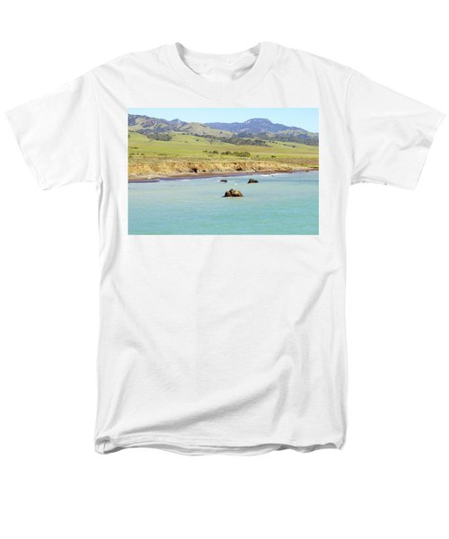 Men's T-Shirt  (Regular Fit) featuring the photograph California's Central Coast by Art Block Collections