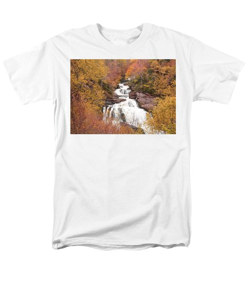 Men's T-Shirt  (Regular Fit) featuring the photograph Callasaja Falls- North Carolina 2 by Penny Lisowski
