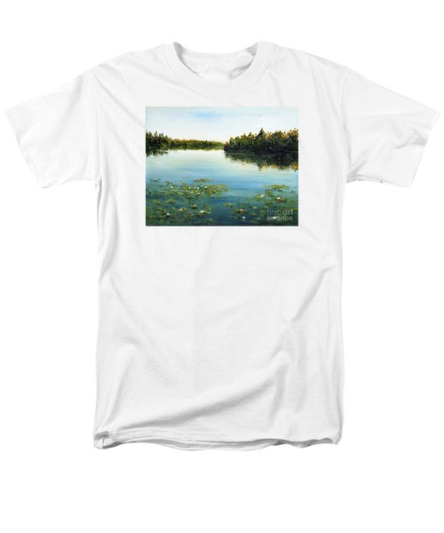Men's T-Shirt  (Regular Fit) featuring the painting Calm by Arturas Slapsys