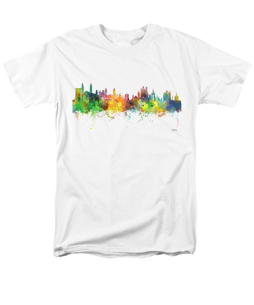 Cambridge England Skyline Men's T-Shirt  (Regular Fit)