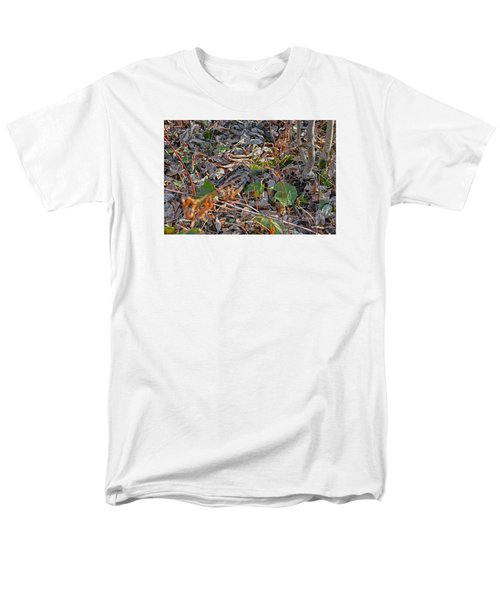 Camouflaged Plumage With Fallen Leaves Men's T-Shirt  (Regular Fit) by Asbed Iskedjian