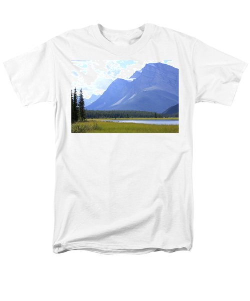 Canadian Mountains Men's T-Shirt  (Regular Fit) by Catherine Alfidi