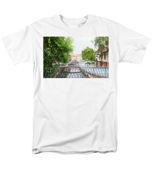 Men's T-Shirt  (Regular Fit) featuring the photograph Canal View In Amiens by Therese Alcorn