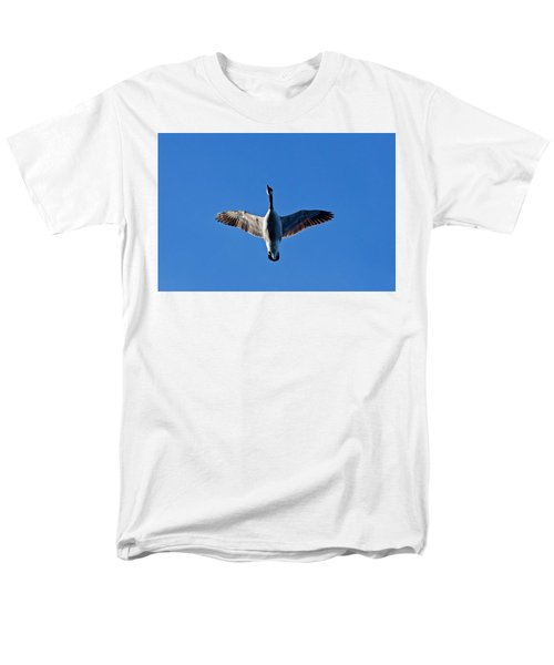 Men's T-Shirt  (Regular Fit) featuring the photograph Candian Goose In Flight 1648 by Michael Peychich
