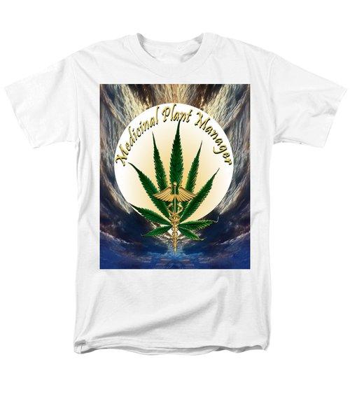 Cannabis Medicinal Plant Men's T-Shirt  (Regular Fit) by Michele Avanti