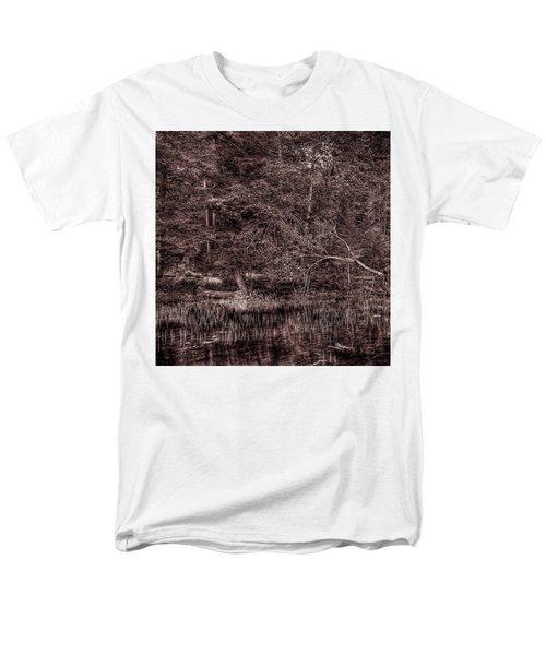 Canoe In The Adirondacks Men's T-Shirt  (Regular Fit) by David Patterson