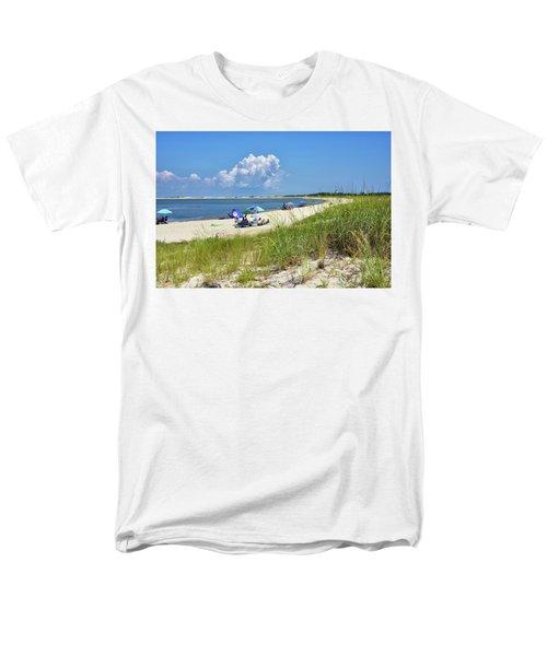 Men's T-Shirt  (Regular Fit) featuring the photograph Cape Henlopen State Park - Beach Time by Brendan Reals