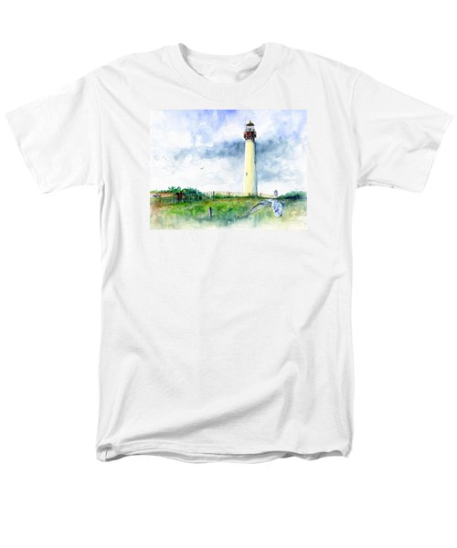 Cape May Lighthouse Men's T-Shirt  (Regular Fit) by John D Benson