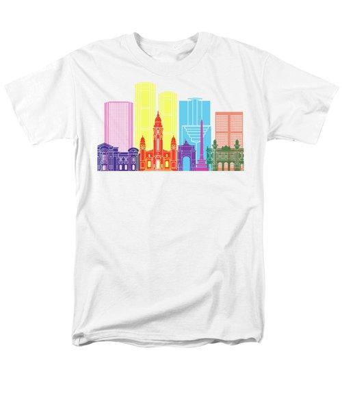 Caracas V2 Skyline Pop Men's T-Shirt  (Regular Fit) by Pablo Romero