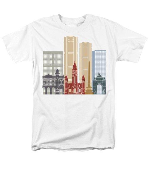 Caracas V2 Skyline Poster Men's T-Shirt  (Regular Fit) by Pablo Romero