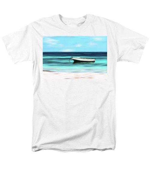 Caribbean Dream Boat Men's T-Shirt  (Regular Fit) by Deborah Smith
