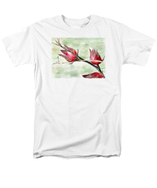 Caribbean Scenes - Sorrel Plant Men's T-Shirt  (Regular Fit) by Wayne Pascall