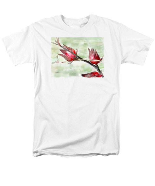 Caribbean Scenes - Sorrel Plant Men's T-Shirt  (Regular Fit)