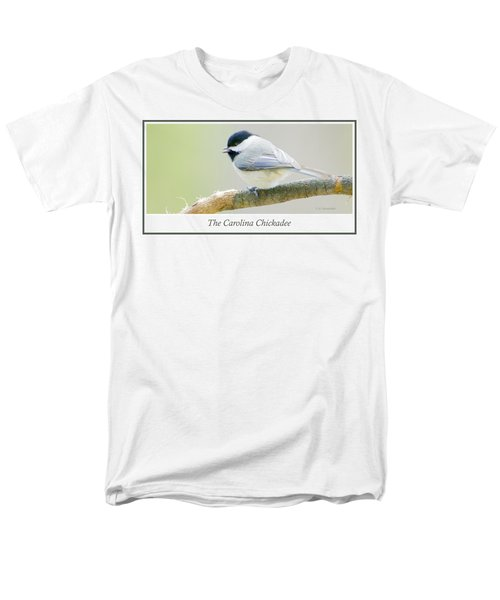 Carolina Chickadee, Animal Portrait Men's T-Shirt  (Regular Fit) by A Gurmankin