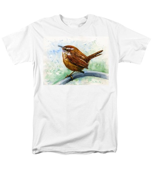 Carolina Wren Large Men's T-Shirt  (Regular Fit) by John D Benson