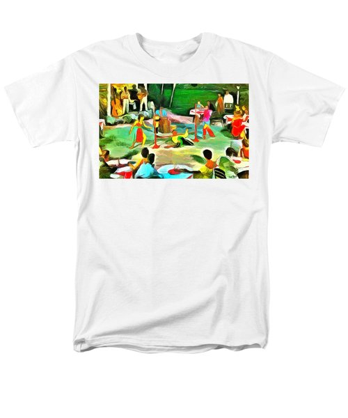 Carribean Scenes - Calypso And Limbo Men's T-Shirt  (Regular Fit) by Wayne Pascall