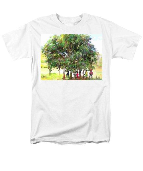 Carribean Scenes - Under De Mango Tree Men's T-Shirt  (Regular Fit) by Wayne Pascall