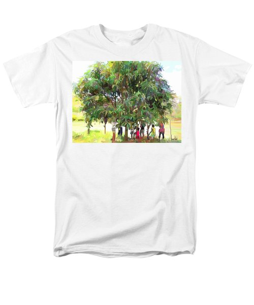 Carribean Scenes - Under De Mango Tree Men's T-Shirt  (Regular Fit)