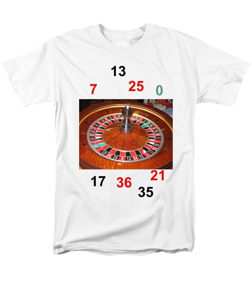 Casino Roulette Wheel Lucky Numbers Men's T-Shirt  (Regular Fit) by Tom Conway