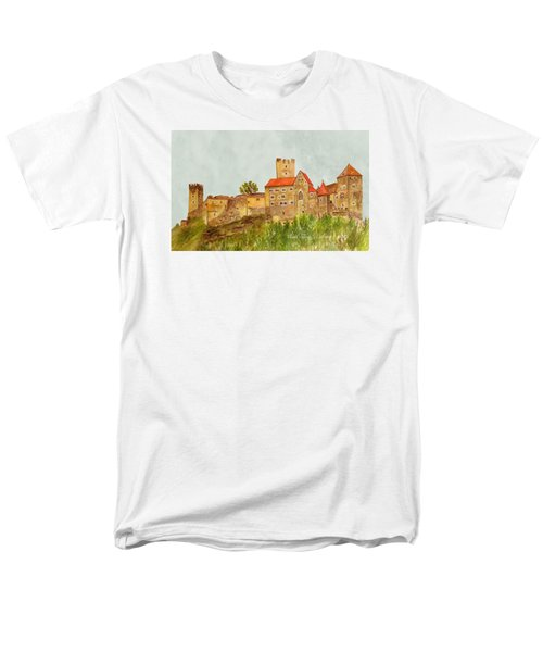 Castle Hardegg Men's T-Shirt  (Regular Fit) by Angeles M Pomata