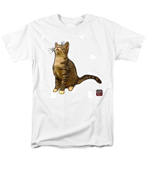 Cat Art - 3771 Wb Men's T-Shirt  (Regular Fit) by James Ahn