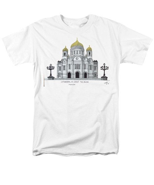 Cathedral  Of Christ The Savior - Moscow Men's T-Shirt  (Regular Fit) by Frederic Kohli