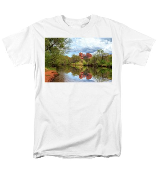 Cathedral Rock Reflection Men's T-Shirt  (Regular Fit) by James Eddy