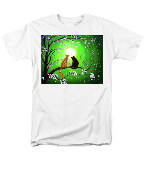 Cats On A Spring Night Men's T-Shirt  (Regular Fit) by Laura Iverson