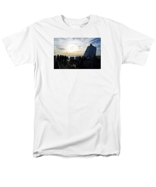 Men's T-Shirt  (Regular Fit) featuring the photograph Celebrating The Sunset by Margie Avellino