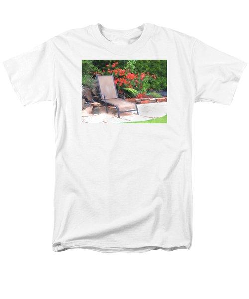 Men's T-Shirt  (Regular Fit) featuring the photograph Chair Waiting by Susan Crossman Buscho