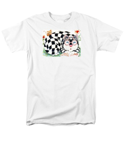 Checkers Men's T-Shirt  (Regular Fit) by Dee Davis