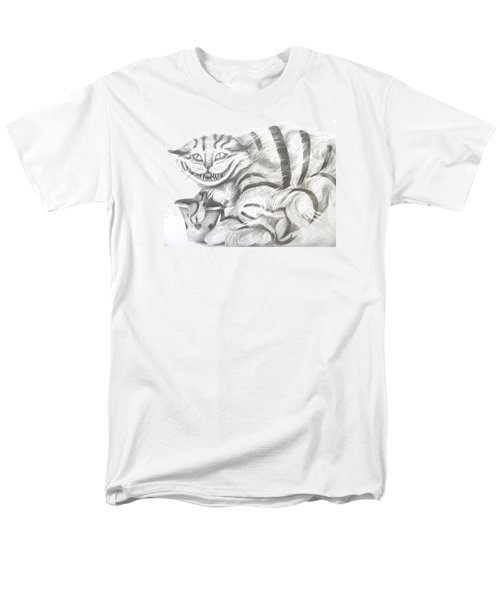 Men's T-Shirt  (Regular Fit) featuring the drawing Chershire Cat  by Meagan  Visser