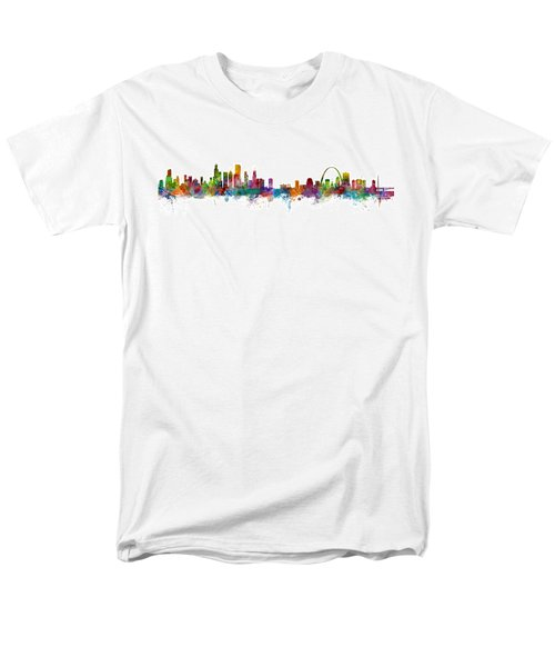 Chicago And St Louis Skyline Mashup Men's T-Shirt  (Regular Fit) by Michael Tompsett