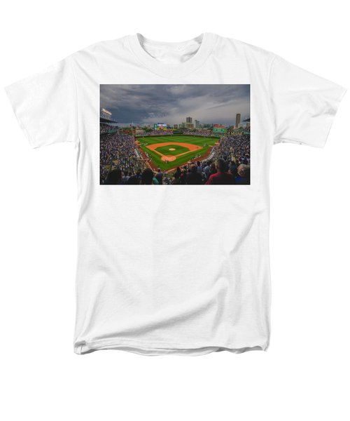 Chicago Cubs Wrigley Field 4 8213 Men's T-Shirt  (Regular Fit) by David Haskett