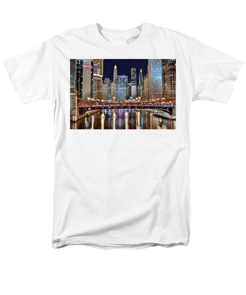 Chicago Full City View Men's T-Shirt  (Regular Fit) by Frozen in Time Fine Art Photography