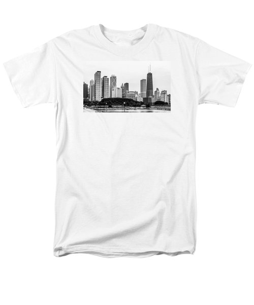 Men's T-Shirt  (Regular Fit) featuring the photograph Chicago Skyline Architecture by Julie Palencia