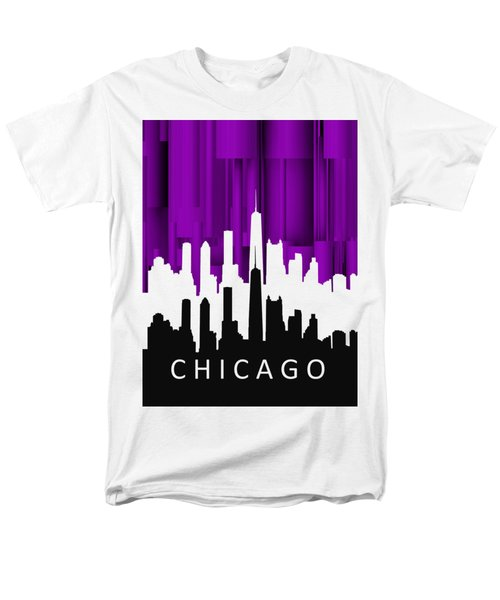 Chicago Violet In Negative Men's T-Shirt  (Regular Fit) by Alberto RuiZ