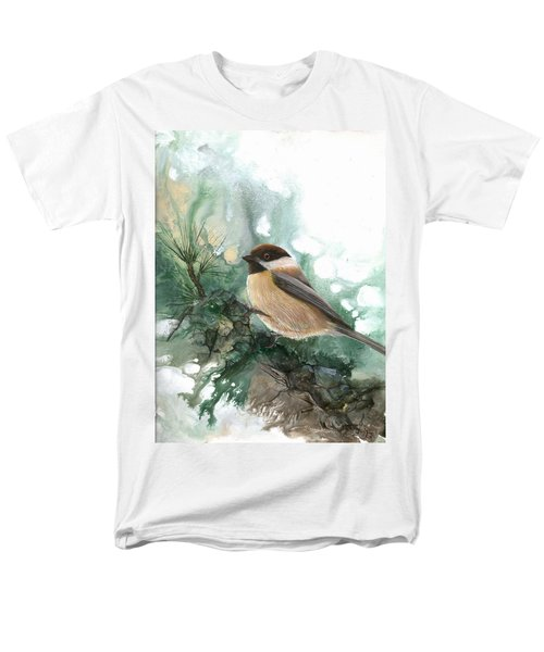 Men's T-Shirt  (Regular Fit) featuring the painting Chickadee by Sherry Shipley