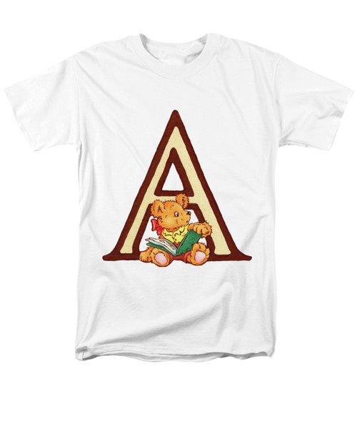 Children's Letter A Men's T-Shirt  (Regular Fit) by Andrea Richardson