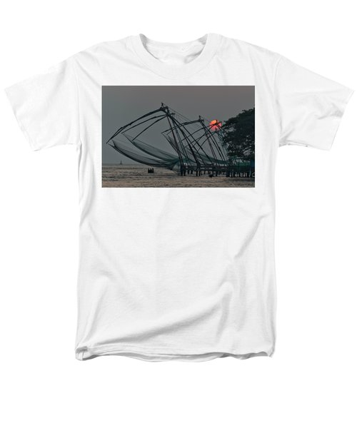 Chinese Fishing Nets, Cochin Men's T-Shirt  (Regular Fit) by Marion Galt