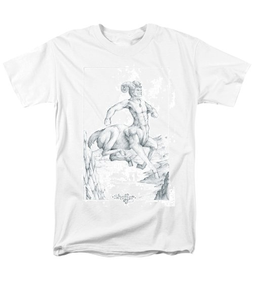 Men's T-Shirt  (Regular Fit) featuring the drawing Chiron The Centaur by Curtiss Shaffer