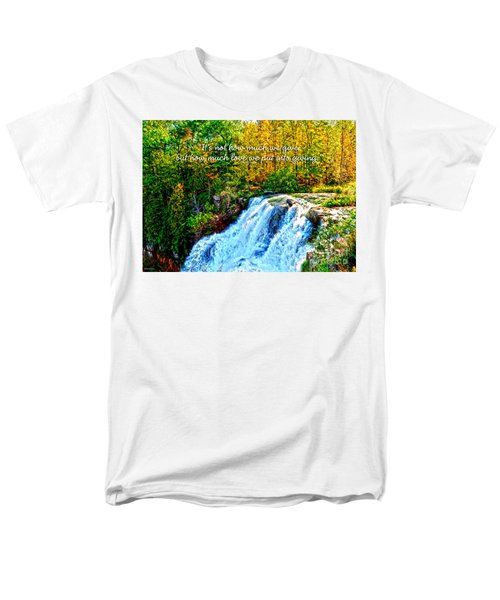 Men's T-Shirt  (Regular Fit) featuring the photograph Chittenango Falls, Ny Mother Teresa  by Diane E Berry