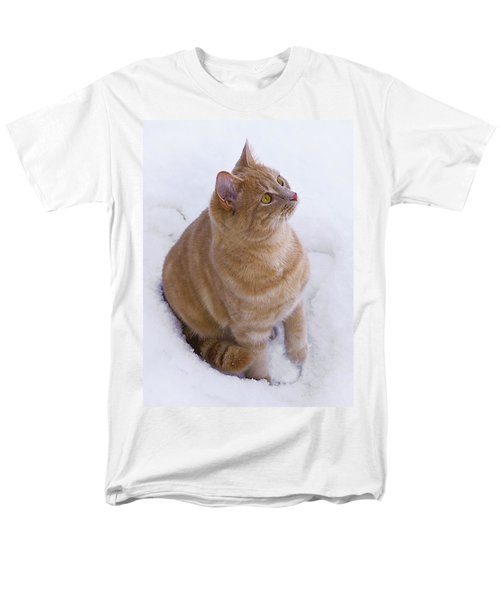 Christmas Cat Men's T-Shirt  (Regular Fit) by Jacqi Elmslie